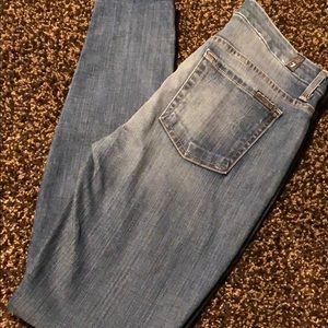 7 for all mankind. High waist skinny. Size 28.